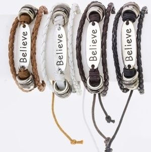 Jewelry - BELIEVE Bracelet - WHITE